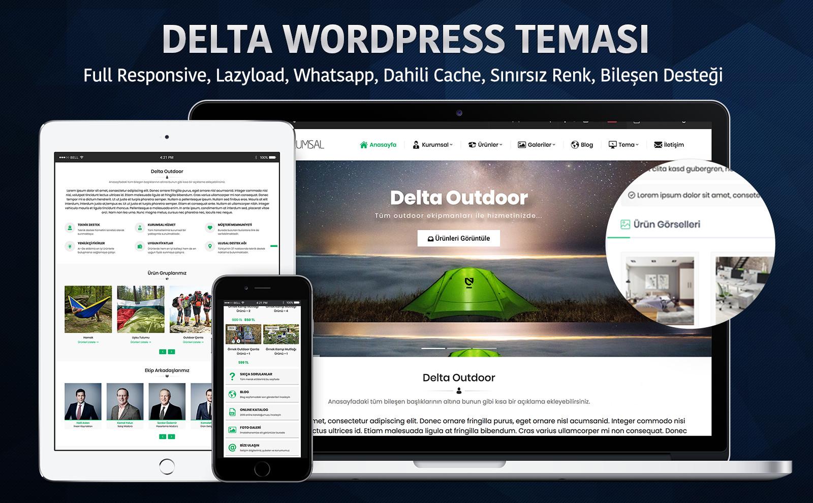 Safir Delta WordPress Teması