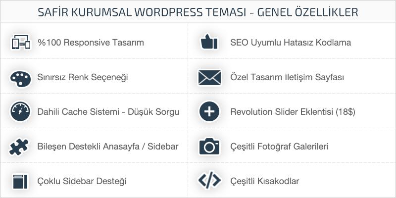 Safir Kurumsal WordPress Teması