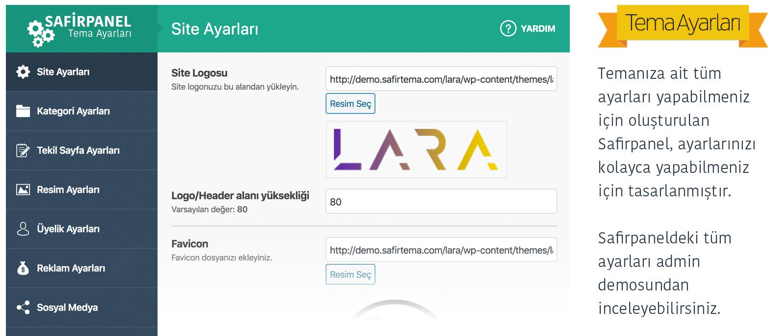 Safir Lara WordPress Teması