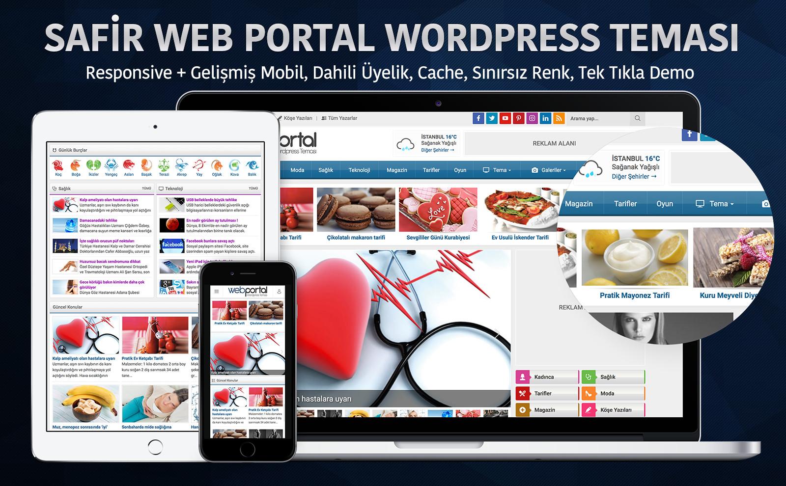 Safir Web Portal Wordpress Teması