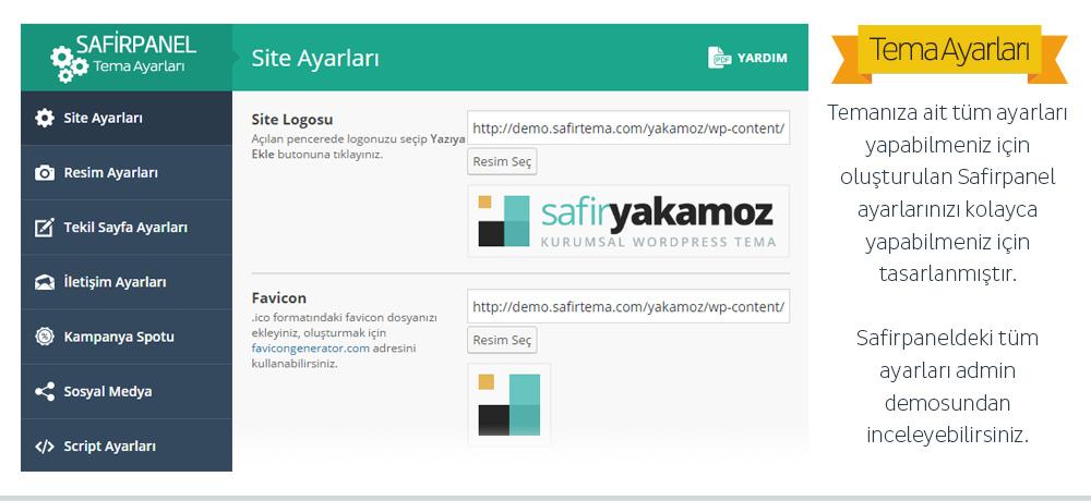 Safir Yakamoz WordPress Teması