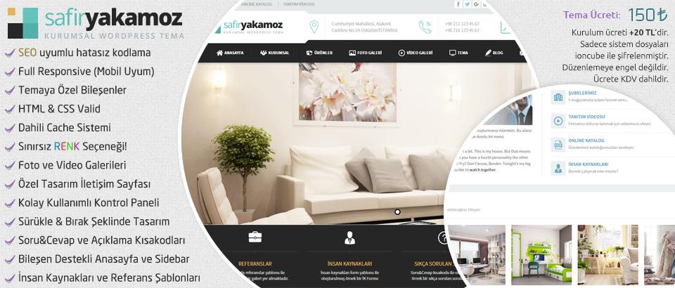 Safir Yakamoz Kurumsal Wordpress Teması