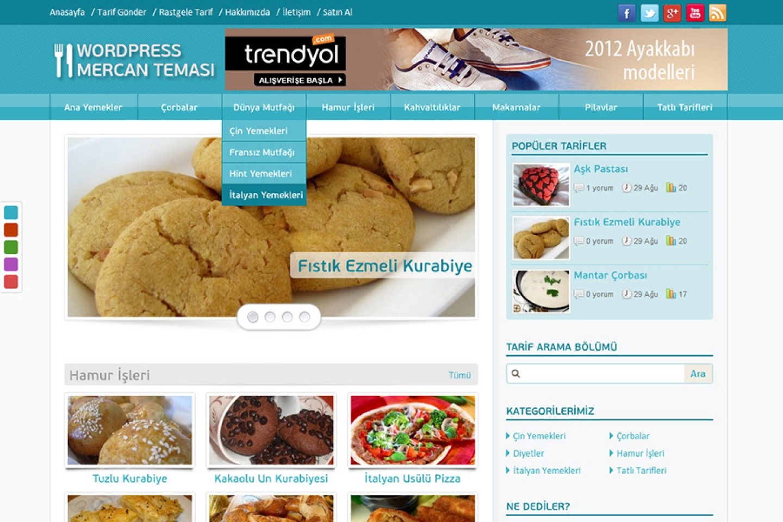Mercan Wordpress Teması