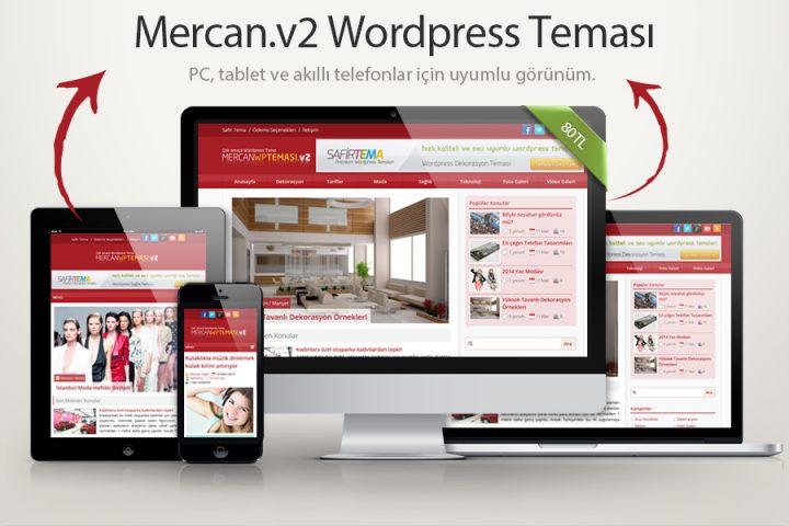 Mercan.v2 Wordpress Teması