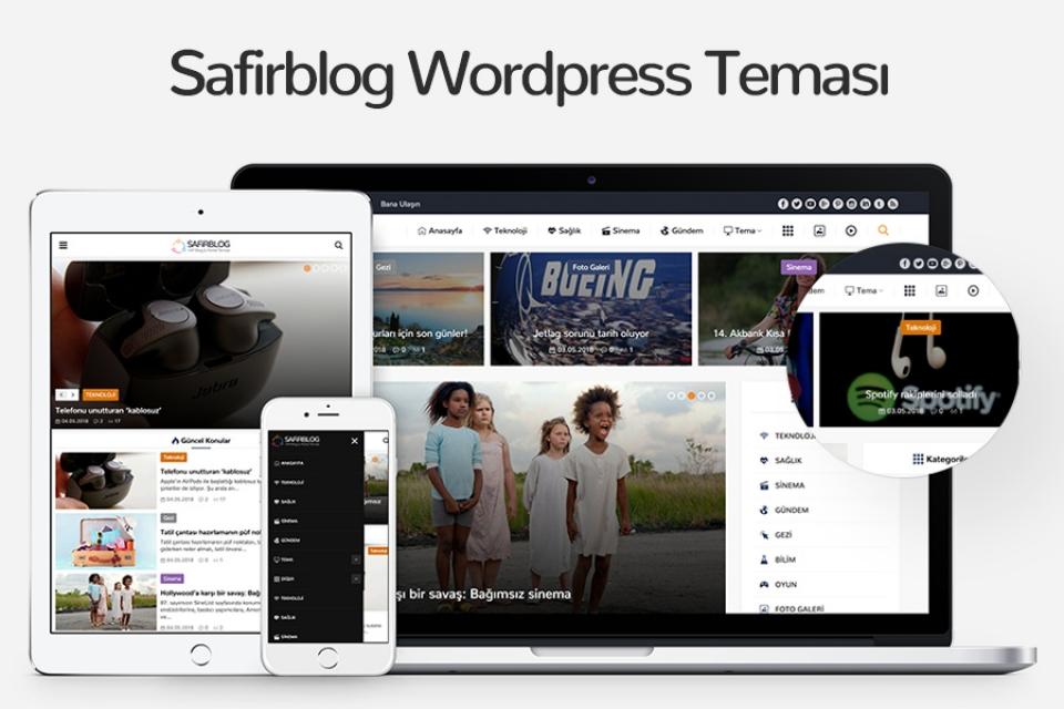 Safirblog Wordpress Teması